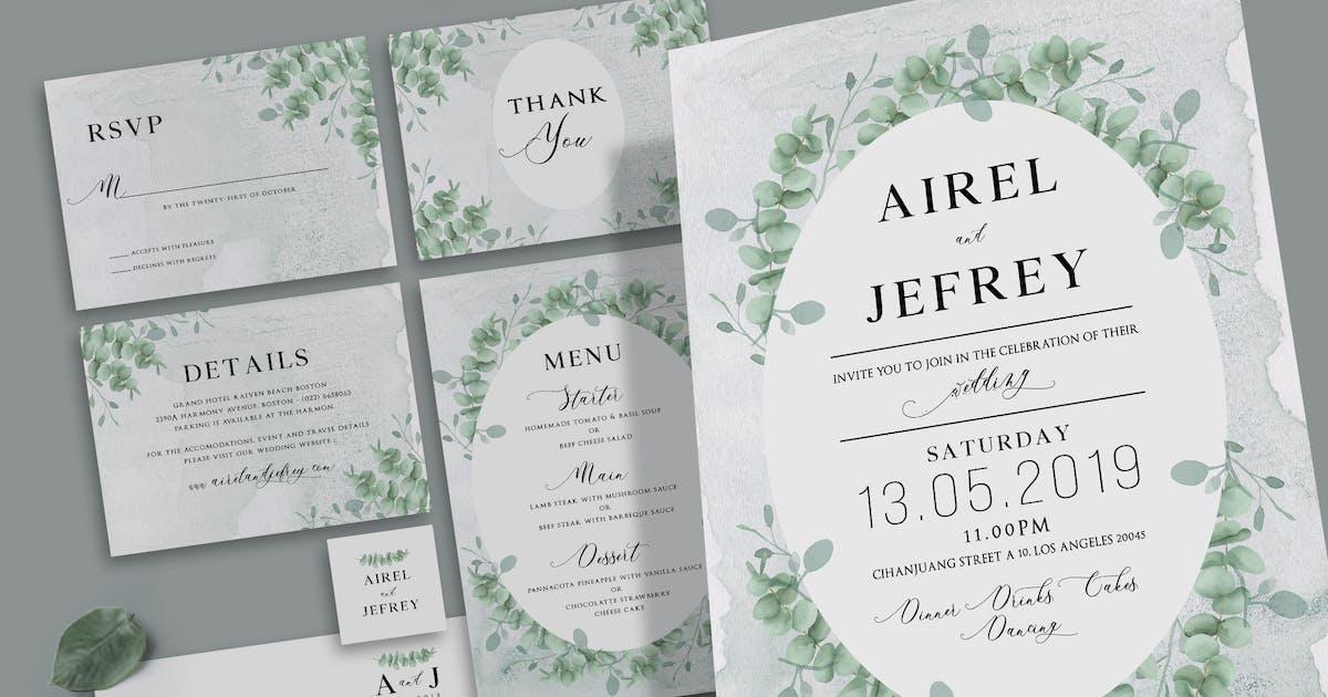 Download Eucalyptus Wedding Invitation by aarleykaiven