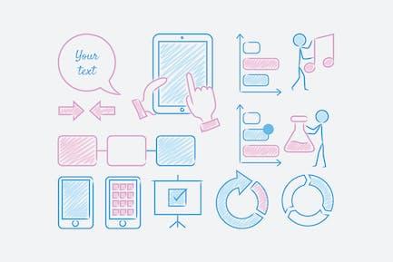 Felt Tip Multipurpose Icons / 6 Different Themes