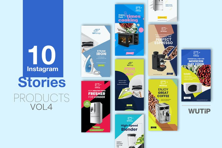 Thumbnail for 10 Instagram Stories-Products Vol 04