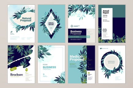 Brochure cover design and annual report templates