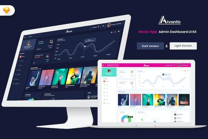 Thumbnail for Atvantic-Music App Admin Dashboard UI (SKECTH)