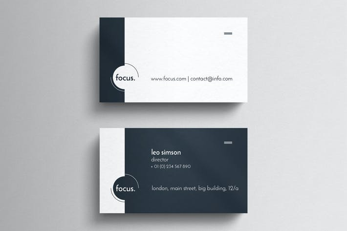 Cover Image For Simple Clean Business Card