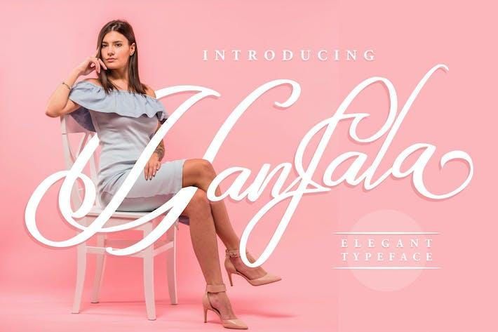 Thumbnail for Hanfala | Elegant Script Font