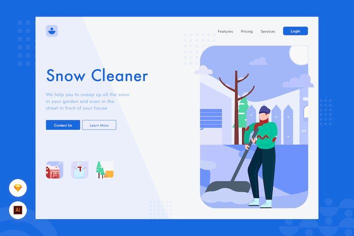 Thumbnail for Nettoyeur de neige - Illustration de l'en-tête