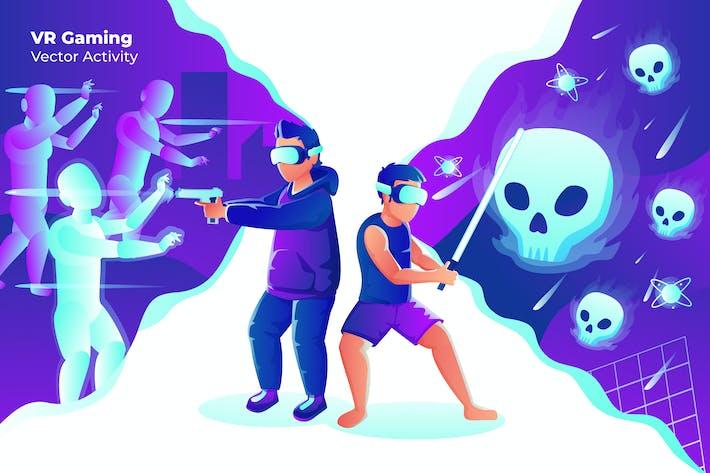Thumbnail for VR Gaming - Vector Illustration
