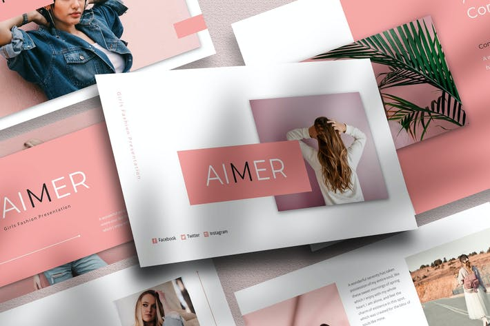 Aimer - Girls Fashion PowerPoint