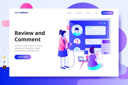 Review and Comment - Landing Page