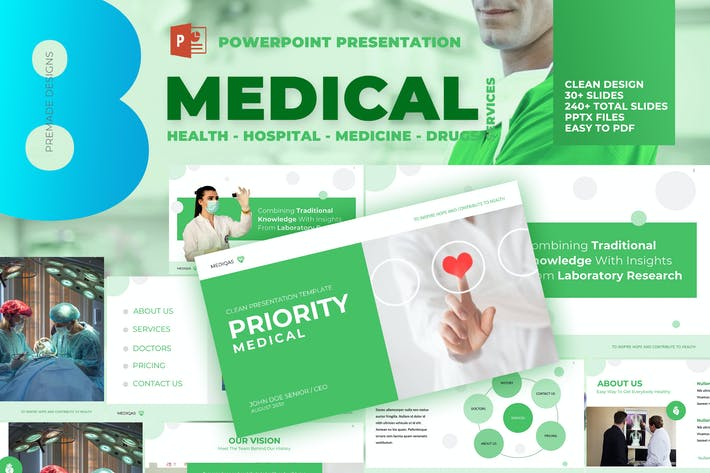 Thumbnail for Medical Pro - Clean Powerpoint Template