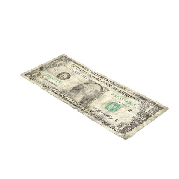 1 Dollar Bill Distressed