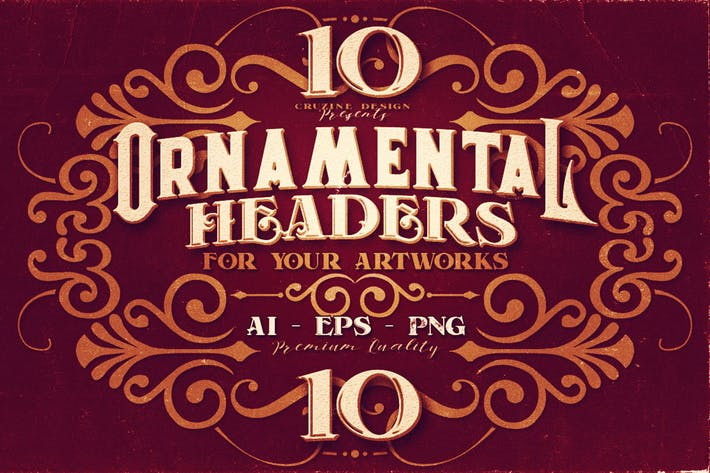 10 Ornamental Headers
