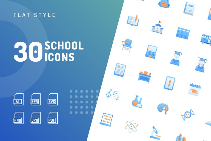 Thumbnail for School Flat Icons
