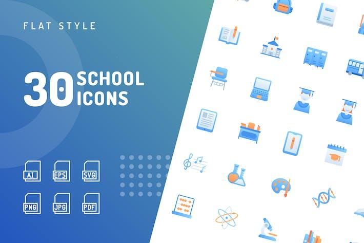 Школьные плоские Иконки