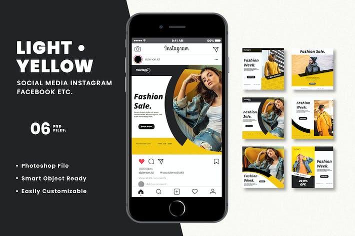 Thumbnail for Light Yellow Social Media Kit
