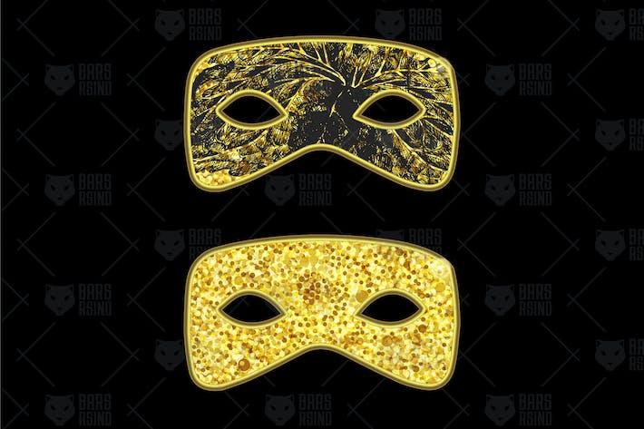 Thumbnail for Gold Masquerade Mask