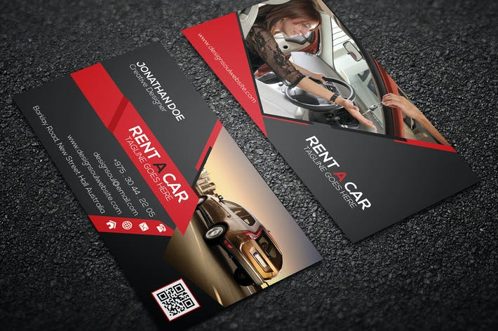Thumbnail for Rent A Car Business Card