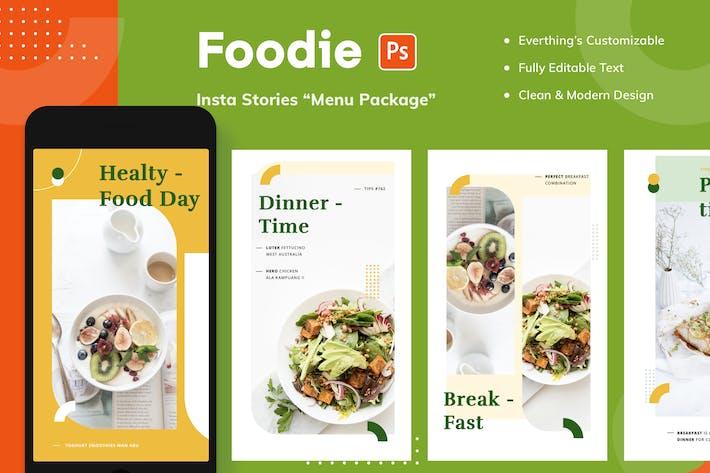 Thumbnail for Foodie Insta Stories - Menu Package