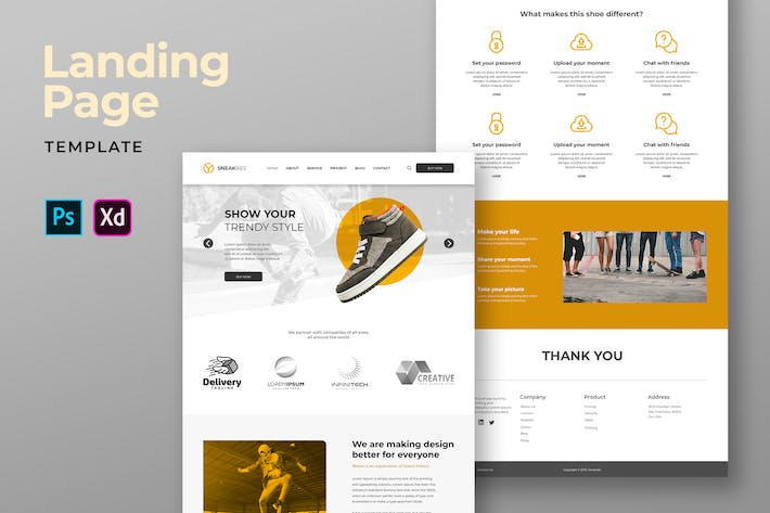 Thumbnail for Footwear Ecommerce Landing Pages