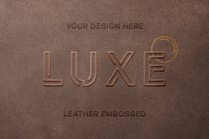 Thumbnail for Leather Stamp Logo Mockup