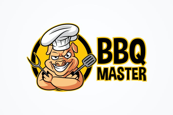 Thumbnail for BBQ Master - Logo de mascotte Barbecue Cochon