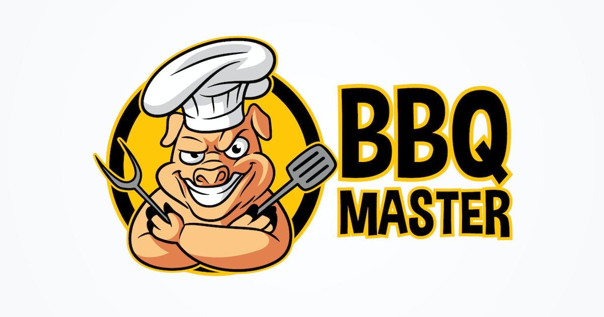 Download BBQ Master - Barbecue Pig Character Mascot Logo by Suhandi