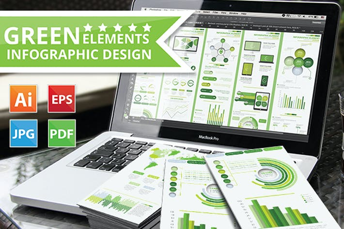 Thumbnail for Green Infographic Elements Design
