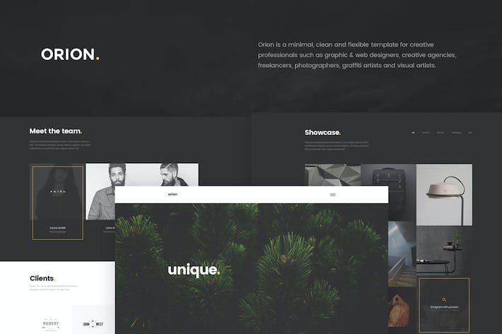 Thumbnail for Orion - Minimal Portfolio HTML5 Template