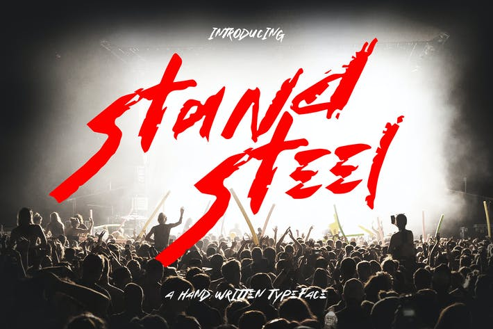 Thumbnail for Stand Steel - Hand Written Typeface