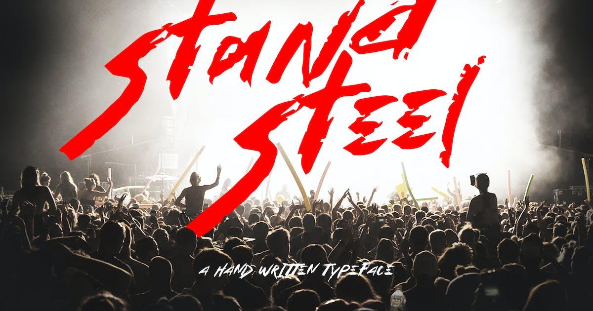 Download Stand Steel - Hand Written Typeface by Slidehack