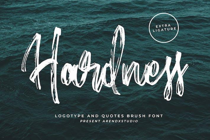 Thumbnail for Hardness - Brush Script Font