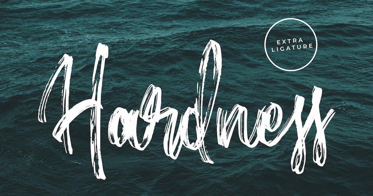 Download Hardness - Brush Script Font by arendxstudio