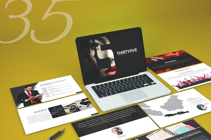 Cover Image For Thirty 5 - Keynote Template
