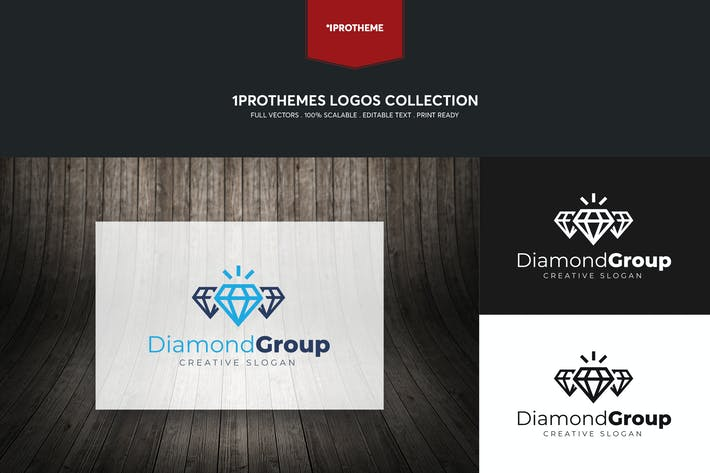 Thumbnail for Diamond Group Logo Template