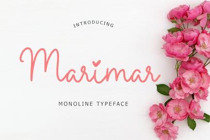 Marimar Monoline Typeface