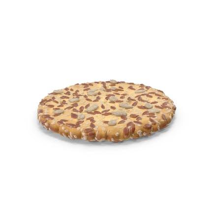 Circular Cracker with Sesame Flax Sunflower Seeds