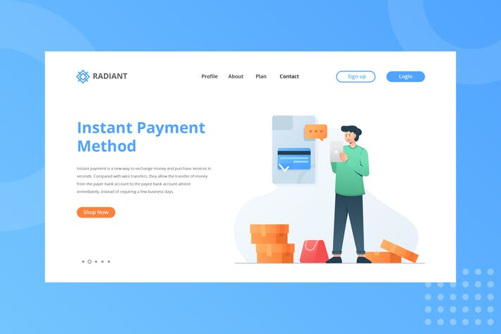 Thumbnail for Instant Payment Method Landing Page