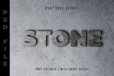 Piedra - Efecto de texto PSD