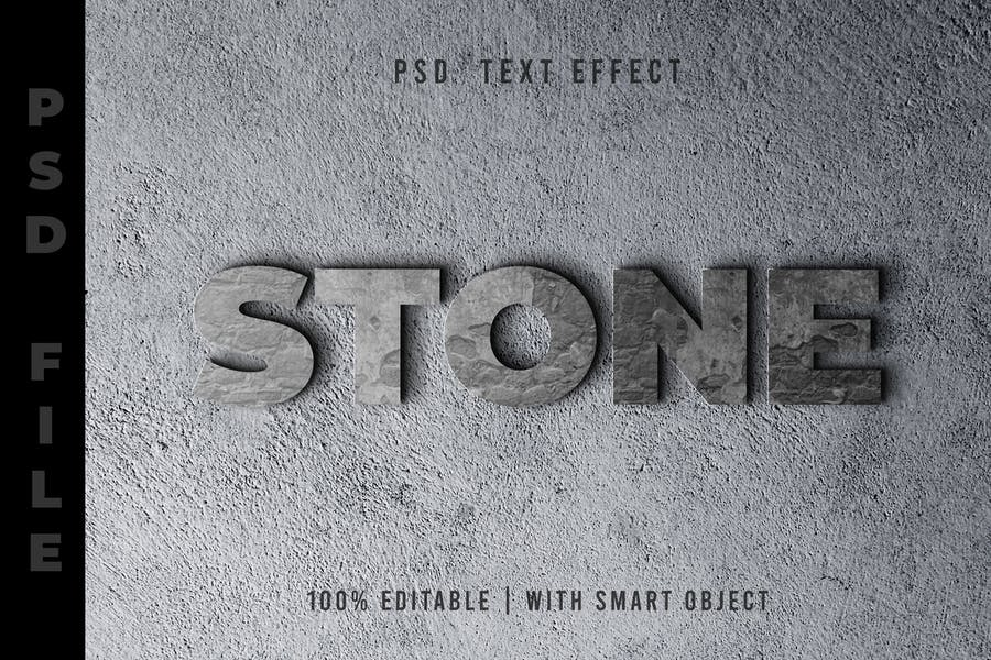 Stone -  Psd Text Effect