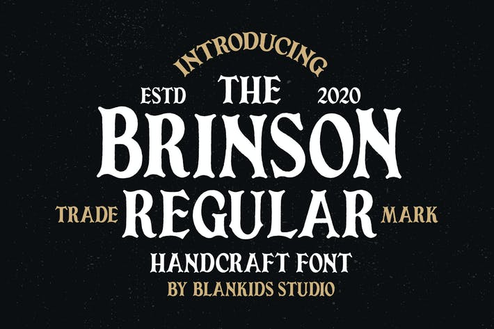 Thumbnail for Brinson Regular - Vintage Serif Font