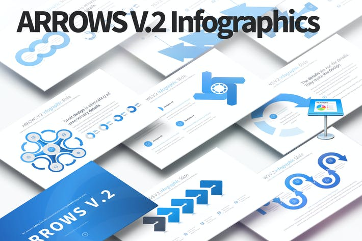 Thumbnail for ARROWS V.2 - Keynote Infographics Slides