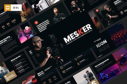 MESKER - Filmmakers & Movie Studio Google Slides