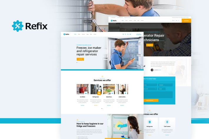 Cover Image For Refix - Fridge & Freezer Repair Company PSD