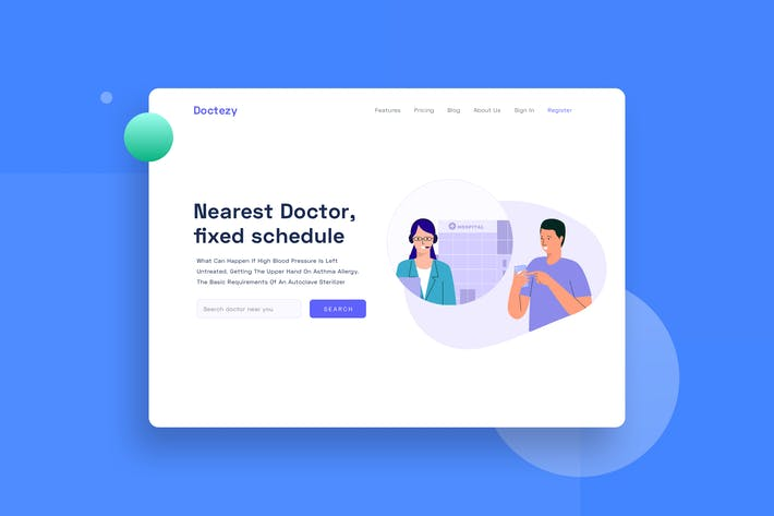 Thumbnail for Healthcare Contact Customer service landingpage