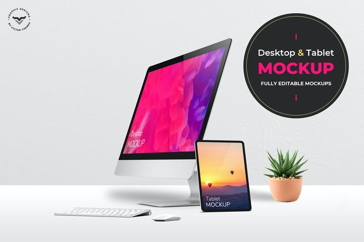 Cover Image For Desktop and Tablets Mockups