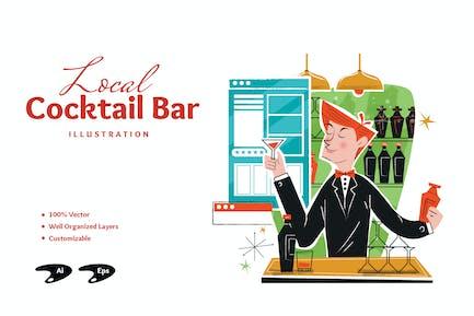 Local Bar Illustration