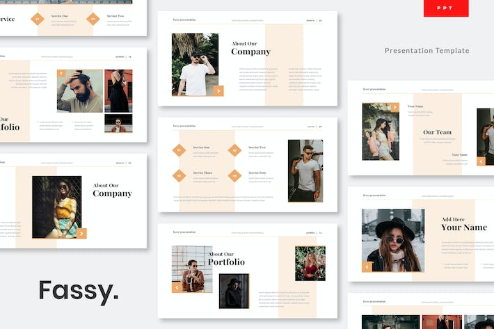 Thumbnail for Fassy - Lookbook Powerpoint Presentation Template
