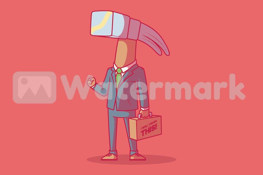 Businessman Hammer