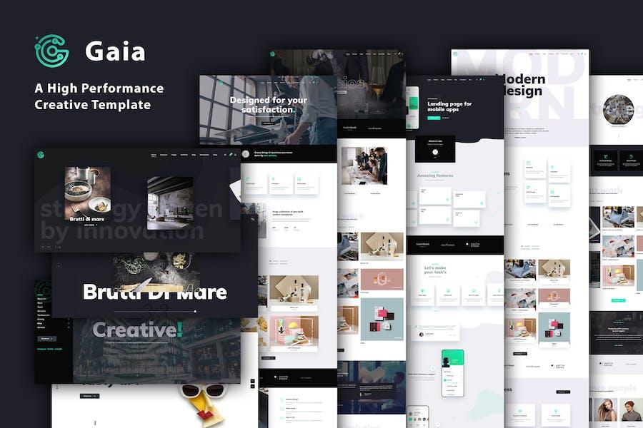 Gaia   A High Performance Creative Template