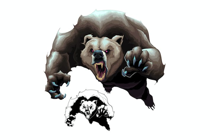Cover Image For Angry Brown Bear