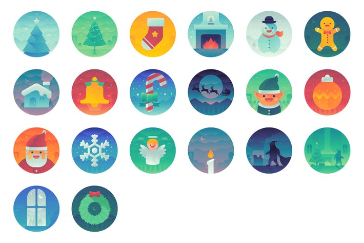 Thumbnail for Gradient Christmas Icons