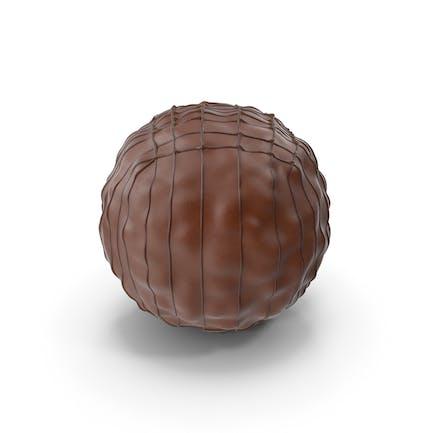 Schokoladenball mit Schokoladen-Linien